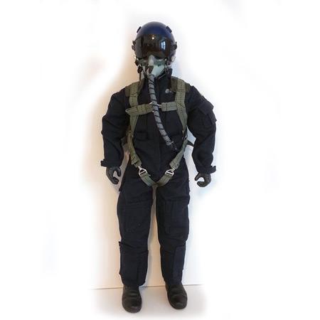 """10"""" Tall Modern Jet Pilot - Blue-0"""