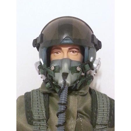 """10"""" Tall Modern Jet Pilot - Green Servo Operated Head-86232"""