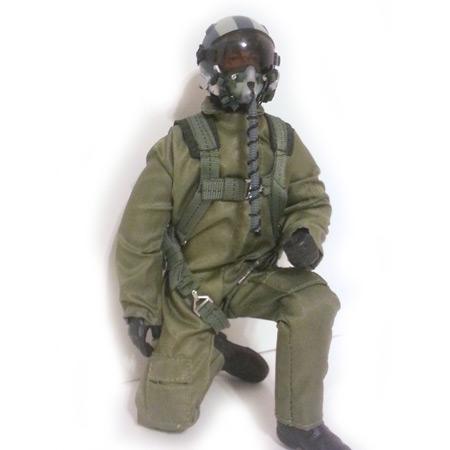 """10"""" Tall Modern Jet Pilot - Green Servo Operated Head-86234"""
