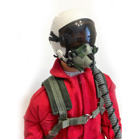 "10"" Tall Modern Jet Pilot - Red/White-87106"