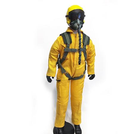 """10"""" Tall Modern Jet Pilot - Yellow-0"""