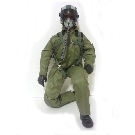 """15"""" Tall Modern Jet Pilot - Green-0"""