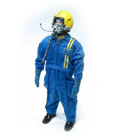 "12"" Blue Angle RC Pilot Figure Servo Operated Head-84199"