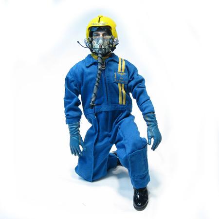 "12"" Blue Angle RC Pilot Figure Servo Operated Head-0"