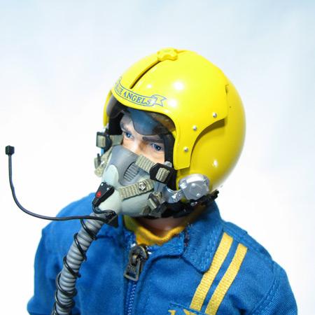 "12"" Blue Angle RC Pilot Figure Servo Operated Head-84201"