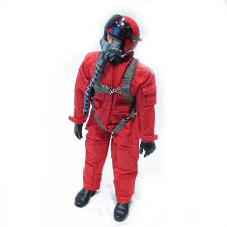 "12"" Custom Red RC Jet Pilot Figure Servo Operated Head-0"