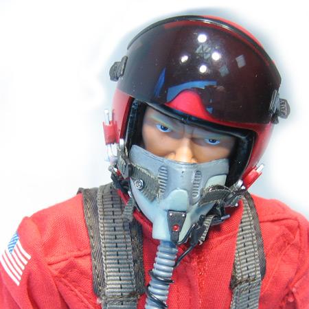 "12"" Custom Red RC Jet Pilot Figure Servo Operated Head-84214"