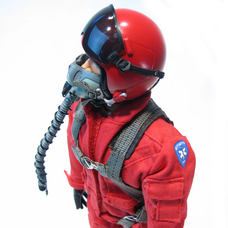 "12"" Custom Red RC Jet Pilot Figure Servo Operated Head-84212"