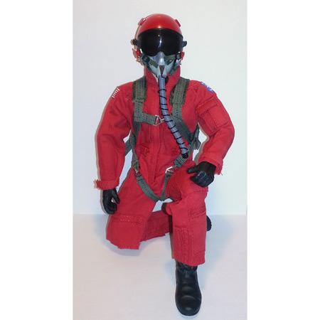 "12"" Custom Red RC Jet Pilot Figure Servo Operated Head-84213"