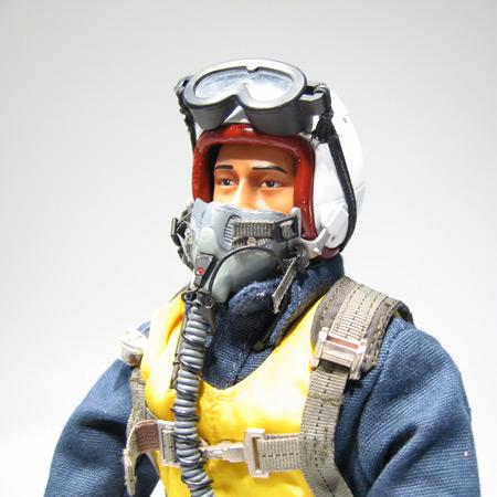 """12"""" Korean War F-86 RC Jet Pilot Figure Servo Operated Head-83186"""