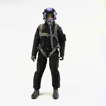 """12"""" Custom Black/Black RC Jet Pilot Figure-0"""