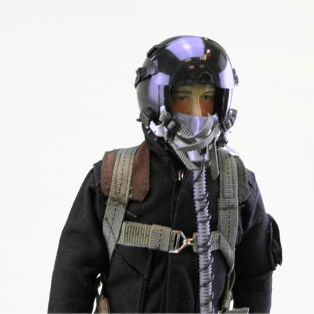 """12"""" Custom Black/Black RC Jet Pilot Figure-86678"""