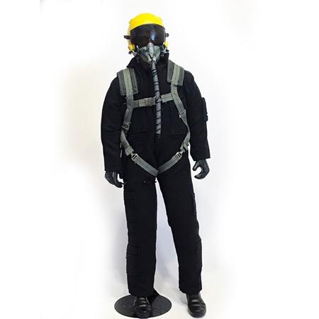 "12"" Custom Black/Yellow RC Jet Pilot Figure-0"