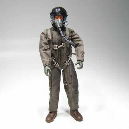 "12"" Modern Jet RC Pilot Figure Green Servo Operated Head-0"