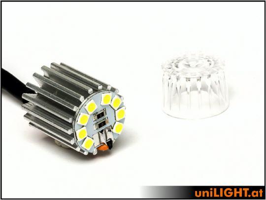 Unilight 8Wx2 Power Position Light, 19mm, T-Fuse Green-0