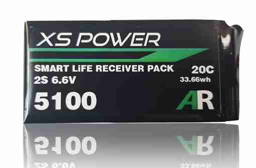 XS Power 5100mAh LiFE Smart Balance Receiver Pack with Ultra/Deans