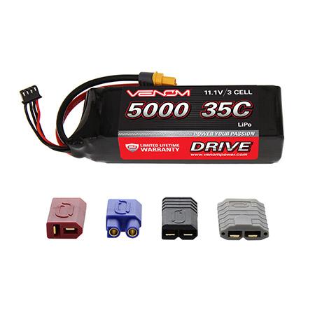 DRIVE 11.1V 5000mAh 35C 3S LiPo: UNI 2.0 Plug