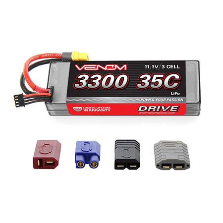 DRIVE 35C 11.1V 3300mAh 3S LiPo Battery: UNI 2.0 Plug