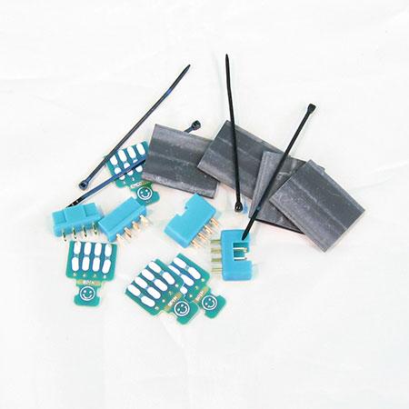 Wing connectors w/PCB 8pin, plug & socket, 2 pairs - Green
