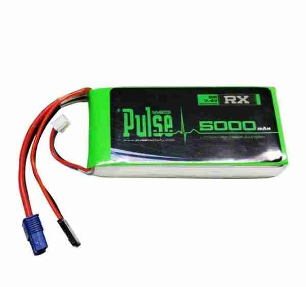 PULSE 5000mAh 2S 7.4V 15C - Receiver Battery