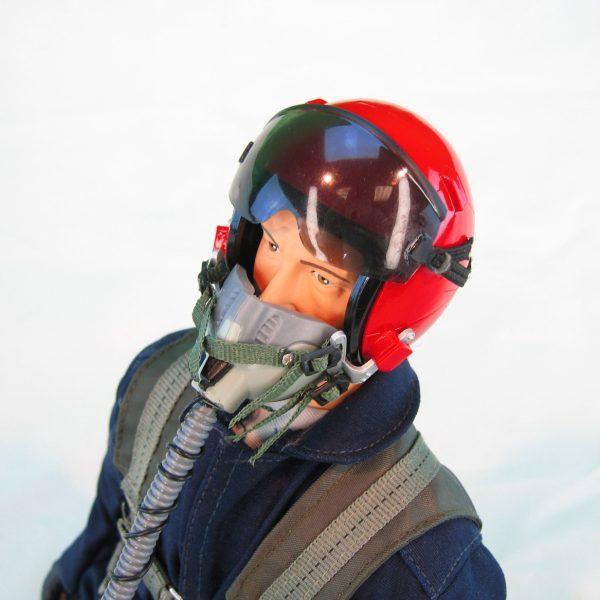 """15"""" Tall Modern Jet Pilot - Blue/Red Helmet"""