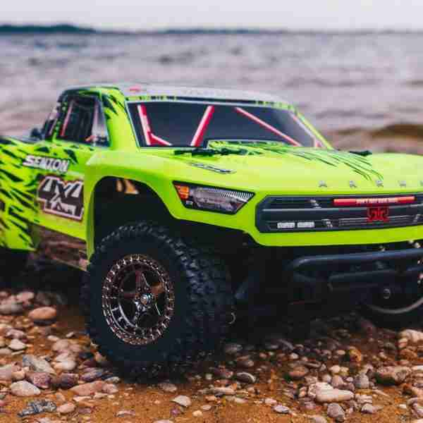 1/10 SENTON 3S BLX 4WD Brushless Short Course Truck with Spektrum RTR, Green/Black-0