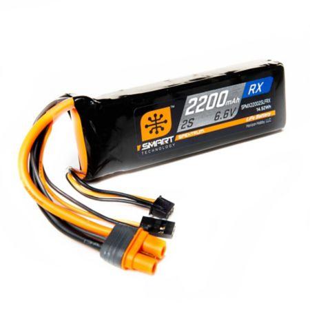 2200mAh 2S 6.6V Smart LiFe Receiver Pack, IC3 & Servo Connector