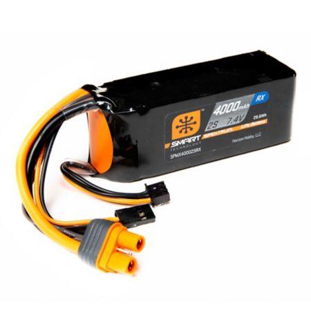 4000mAh 2S 7.4V Smart LiPo Receiver Pack IC3 & Servo Connector