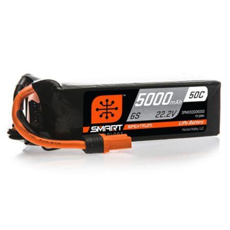 22.2V 5000mAh 6S 50C Smart LiPo Battery, IC5