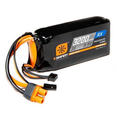 3200mAh 3S 9.9V Smart LiFe ECU Battery Pack: IC3 & Servo Connector